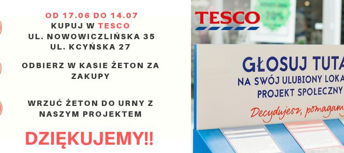 """Zrób zakupy w TESCO i zagłosuj na Fundację """"Gdyński Most Nadziei"""""""